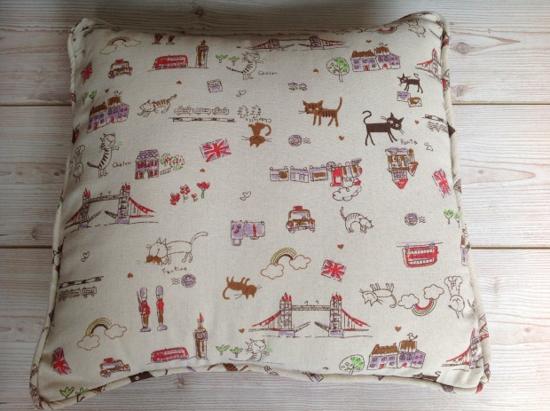 Homemade London Cushion Cover Poppysews.com